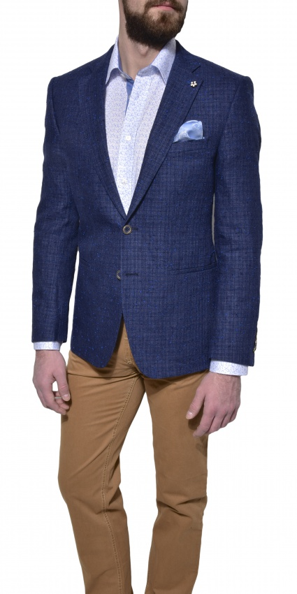 LIMITED EDITION blue linen blazer