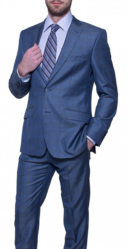 LIMITED EDITION Grey - blue checkered wool suit - Suits - E-shop