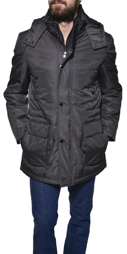Anthracite winter parka