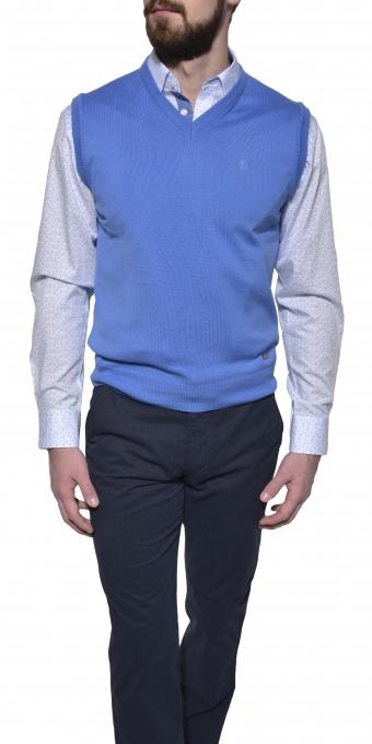 Light blue cotton vest