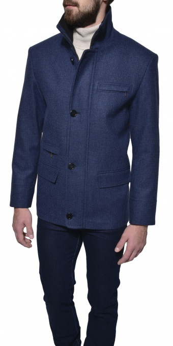 Blue autumn coat