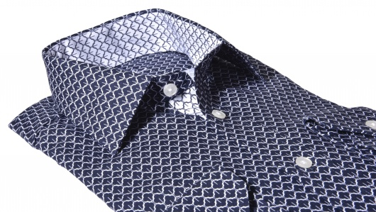 LUXURY LINE dark blue Extra Slim Fit shirt