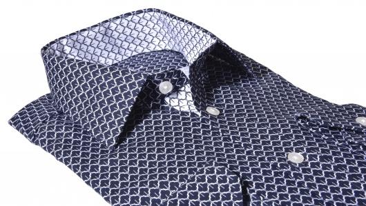 LUXURY LINE tmavomodrá Extra Slim Fit košeľa