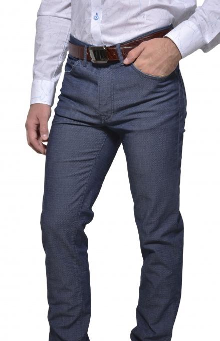 Šedo - modré voľnočasové nohavice