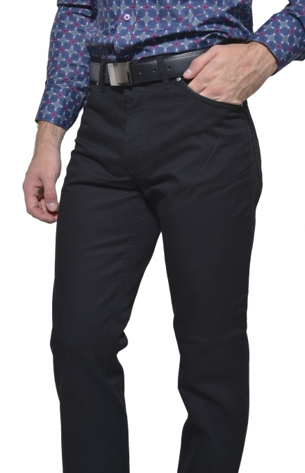 Black five pocket trousers