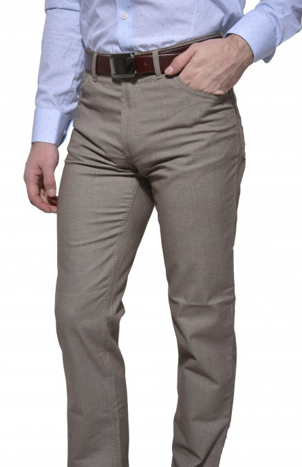 Casual khaki trousers