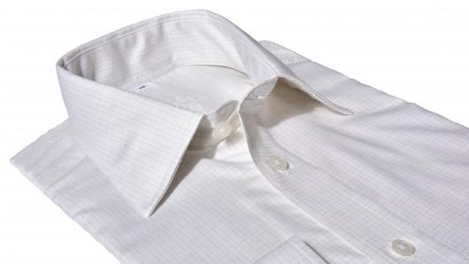 Ivory károvaná Classic Fit košeľa