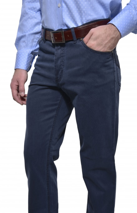 Grey - blue casual trousers