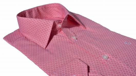 Casual red Extra Slim Fit printed shirt