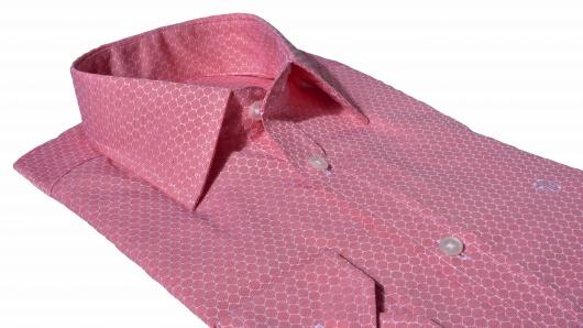 Voľnočasová červená Extra Slim Fit košeľa s printom