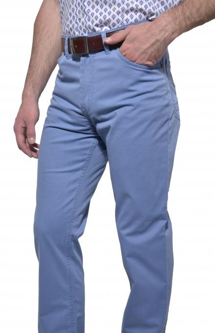 Bledomodré voľnočasové nohavice