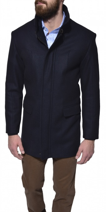 Dark blue overcoat