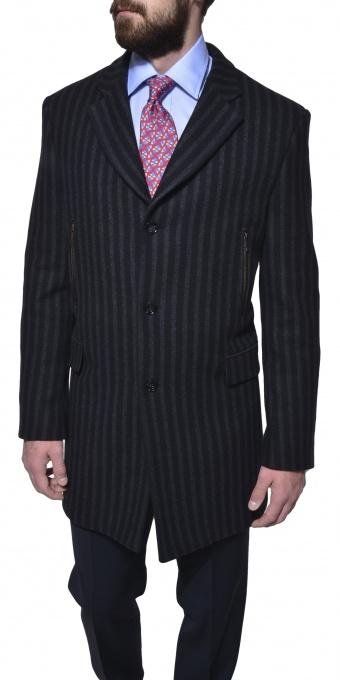 Šedo - čierny zimný kabát