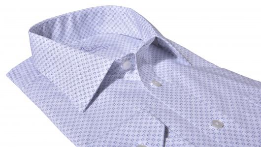 Modrá Classic Fit košeľa s printom