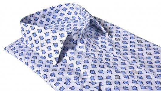 Voľnočasová printová Slim Fit košeľa s krátkym rukávom