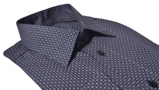 Tmavohnedá Classic Fit košeľa s printom
