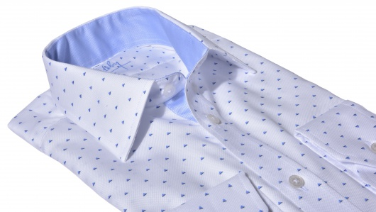 LIMITED EDITION white patterned Extra Slim Fit shirt