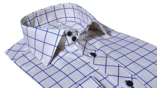 Béžová károvaná Slim Fit košeľa