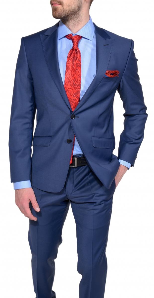 Modrý Ultra Slim Fit oblek