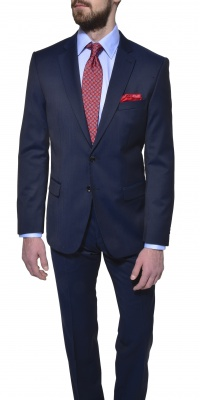 Dark blue wool Slim Fit suit