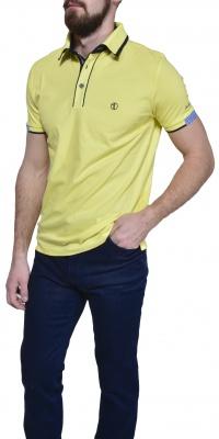 Žltá piqué polokošeľa
