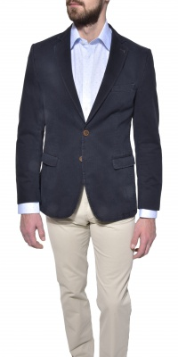 Grey - blue cotton blazer