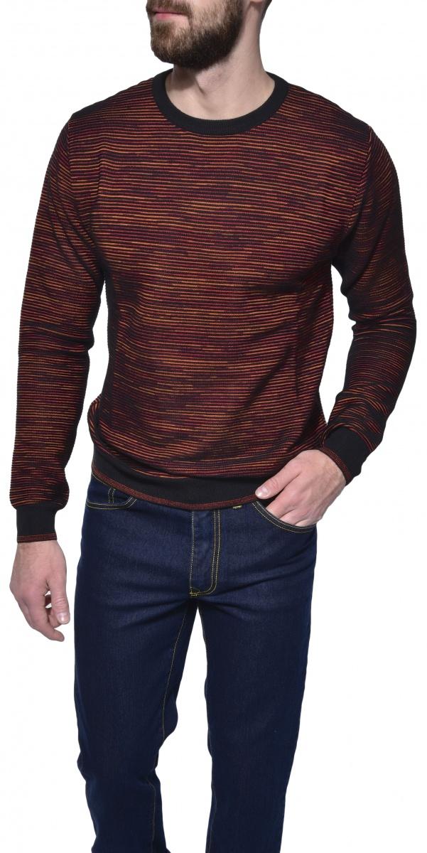 Okrový pletený pulóver