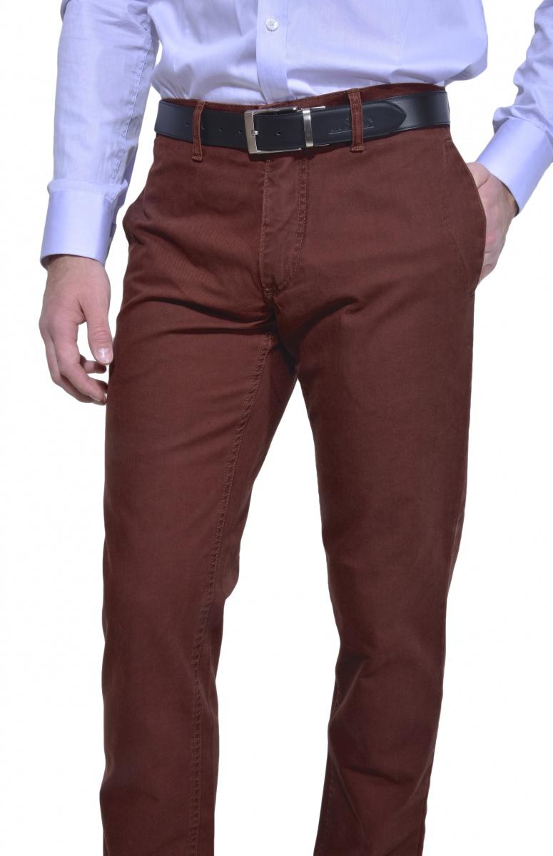 Bordové chinos nohavice