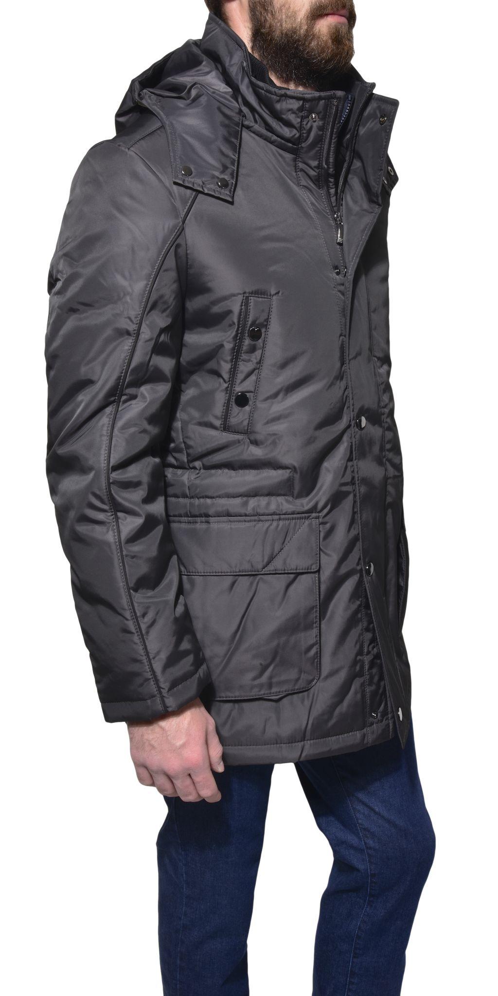 Antracitová zimná bunda - Bundy a Kabáty - E-shop  0a6d1f215a9