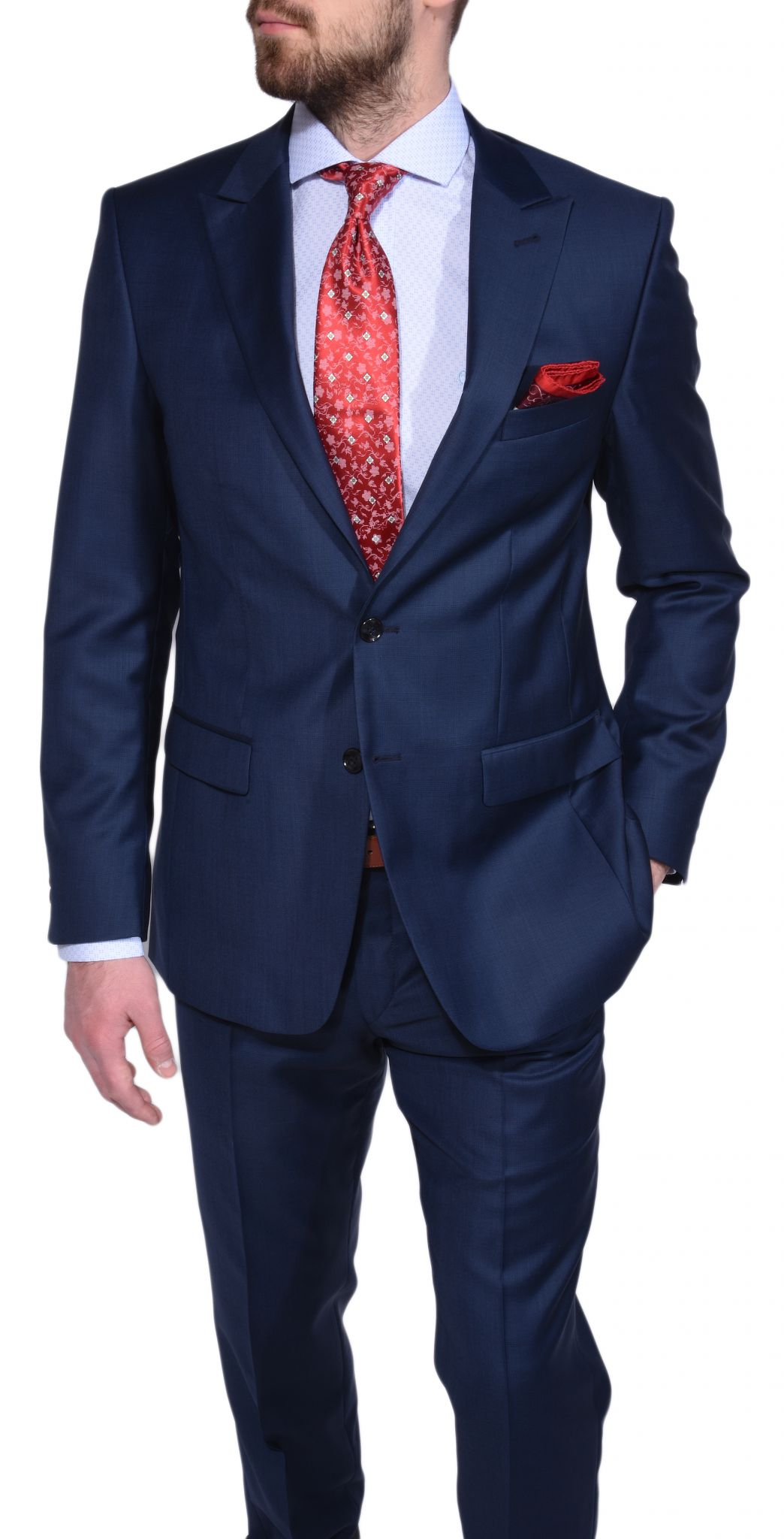 dark blue slim fit checkered suit suits eshop