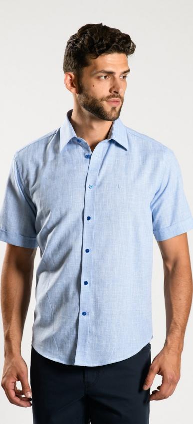 Light blue Extra Slim Fit short sleeved shirt