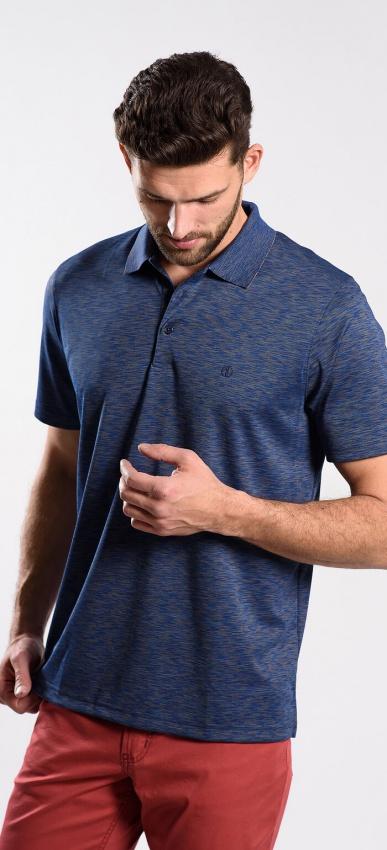 Dark blue polo shirt