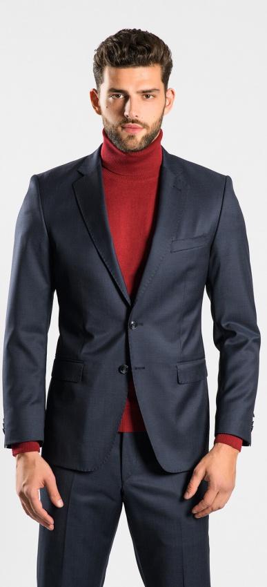 Antracitový vlnený oblek