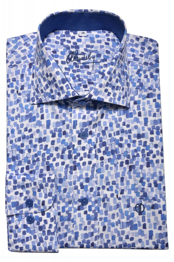 Blue Slim Fit printed shirt