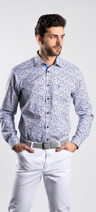 Kvetinová Extra Slim Fit košeľa