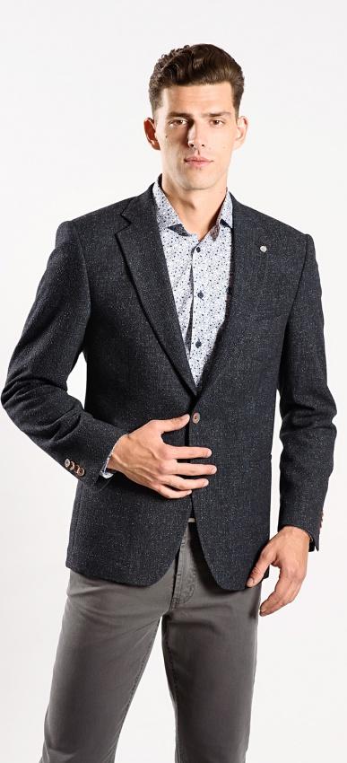 Sivé jesenné sako