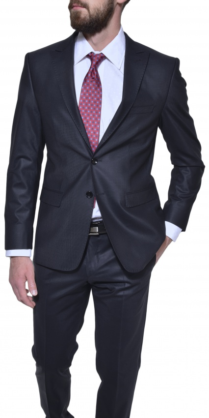 Čierny Ultra Slim Fit business oblek