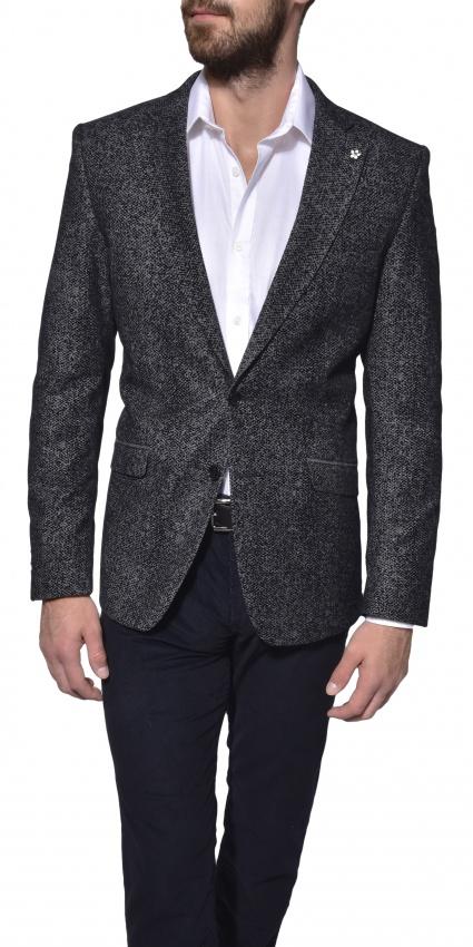 Grey wool blazer