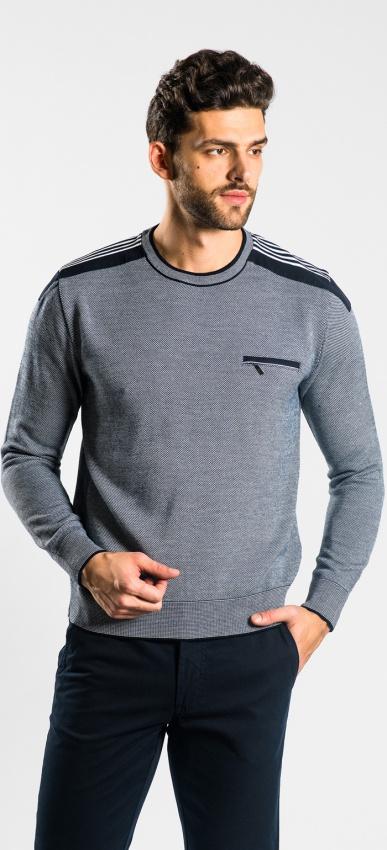 Modrý športový pulóver
