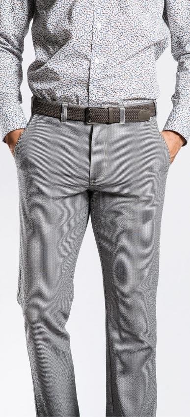 Šedé krepové nohavice