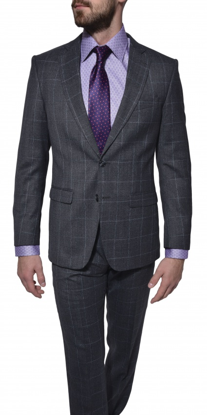 LIMITED EDITION grey wool suit