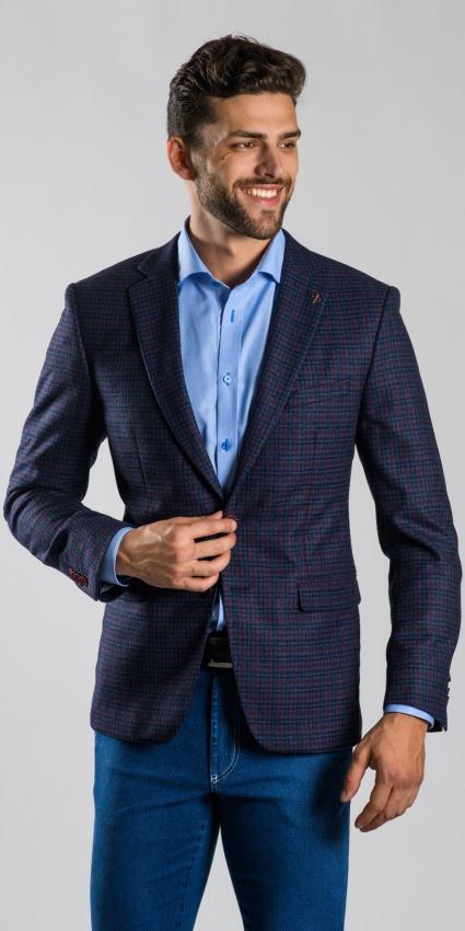Modré vlnené sako