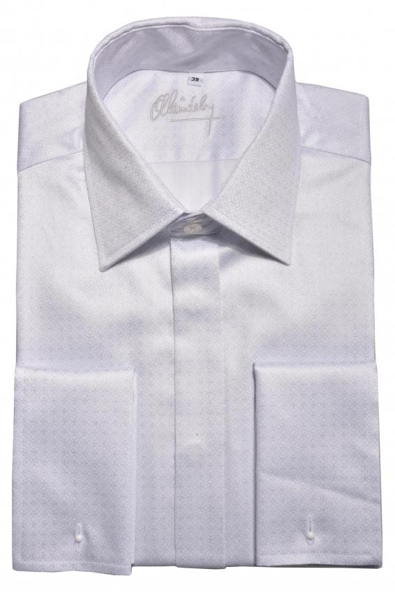 LIMITED EDITION biela spoločenská Extra Slim Fit košeľa