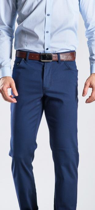 Modré päťvreckové nohavice rady Basic