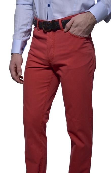 Jahodové voľnočasové nohavice