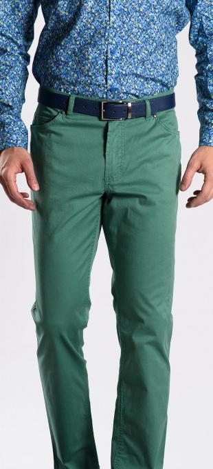 Zelené bavlnené nohavice