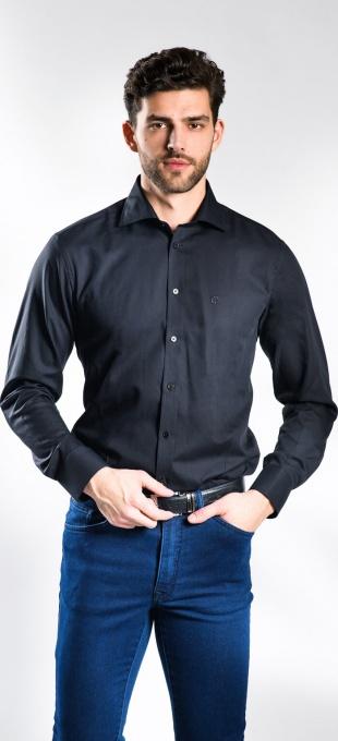 Čierna Extra Slim Fit košeľa