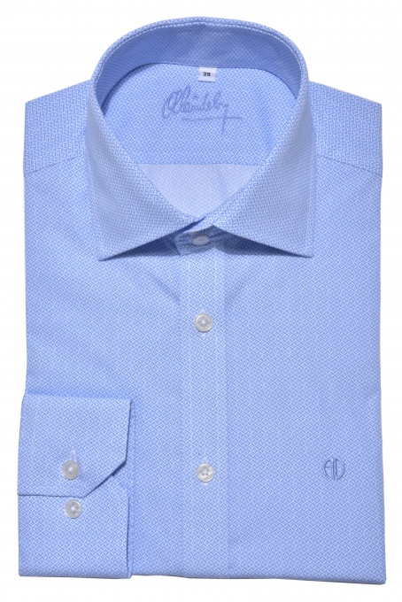 Blue Extra Slim Fit printed shirt