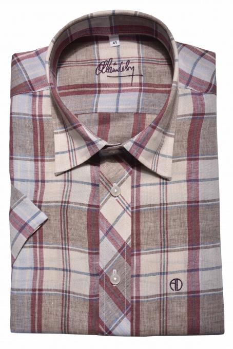 Linen Slim Fit short sleeved shirt