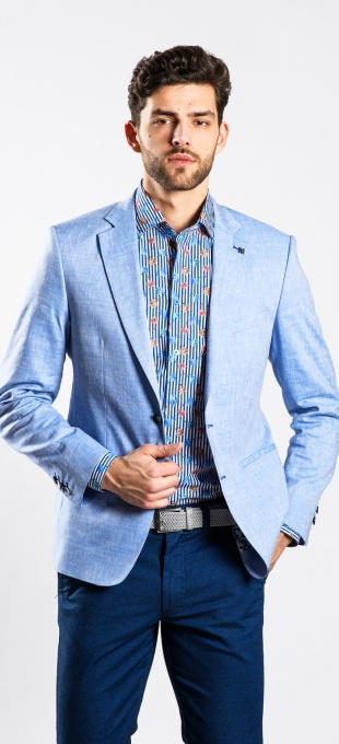 LIMITED EDITION Light blue linen blazer